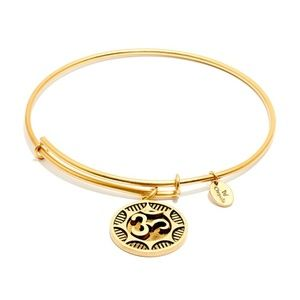 Chrysalis Yoga Ohm  Gold Color Expandable Bangle